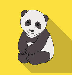 pandaanimals single icon in flat style vector image vector image