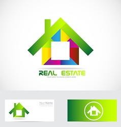 Real estate house logo vector image vector image