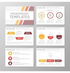 Set of red and yellow template for multipurpose vector