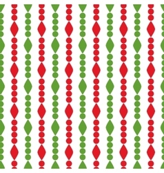 Simple retro geometric Christmas pattern vector image vector image