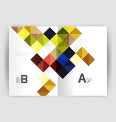 square annual report brochure a4 print template vector image vector image