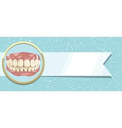 Teeth and ribbon vector image vector image