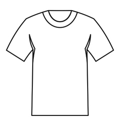 Tshirt icon outline style vector