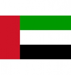 united arab emirates flag vector image