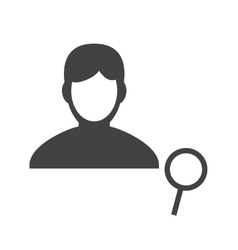Find male profile vector