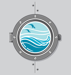 Ship porthole image vector