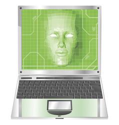 laptop woman concept vector image