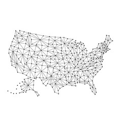 Map of united states of america from polygonal vector