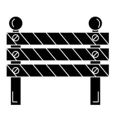 Construction fence signal icon vector