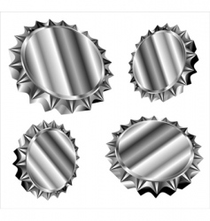 Bottle caps or gears vector