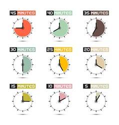Clock face set vector