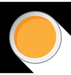 Orange circle with stylized shadow vector