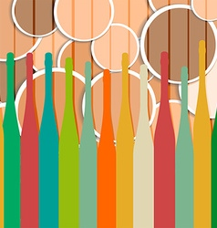 Pattern with wine bottles vector