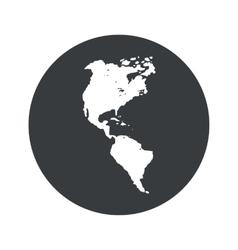 Monochrome round america icon vector