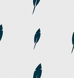 Feather sign icon retro pen symbo seamless vector