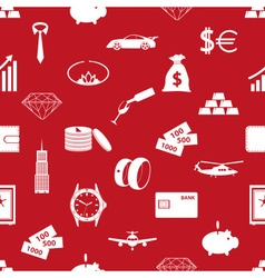 richness and money theme red seamless pattern vector image
