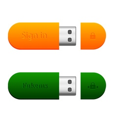 Two flash drives vector