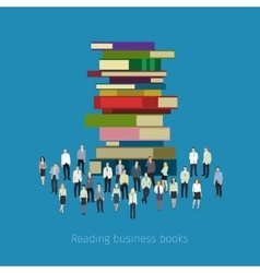 People crowd around books vector