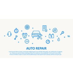 Auto repair thin line design concept vector