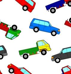Car seamless wallpaper vector image