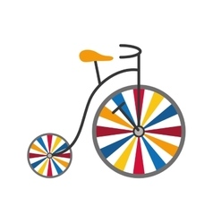 Cycle icon circus and carnival design vector