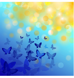 Abstract colorful background with butterflies vector
