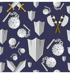 Ancient weapon cartoon background vector