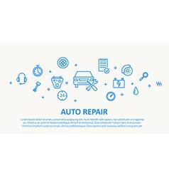 Auto repair thin line design concept vector