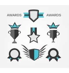 Award sign and symbol vector