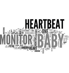 Baby heartbeat monitors reviewed text word cloud vector