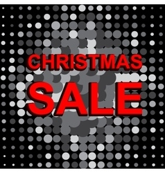 Big sale poster with christmas sale text vector