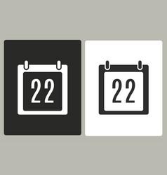 Calendar - icon vector