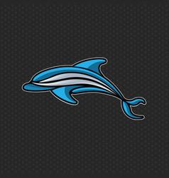 Dolphin logo icon design template vector