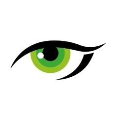 Eye female look vision optical icon vector