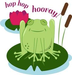 Hop hop hooray vector