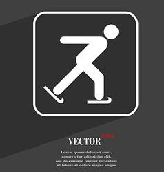 Ice skating symbol Flat modern web design with vector image vector image