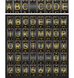 Industrial font vector