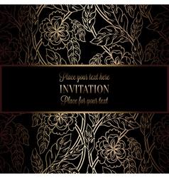 Invitation decorative golds 42 vector