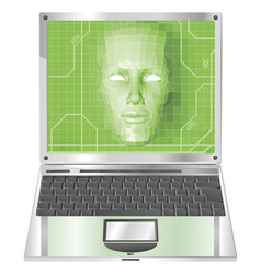 laptop woman concept vector image