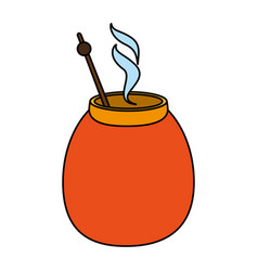 Mate beverage design vector