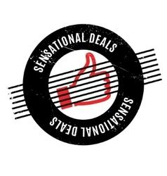 Sensational deals rubber stamp vector