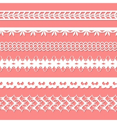 set of paper laces vector image vector image