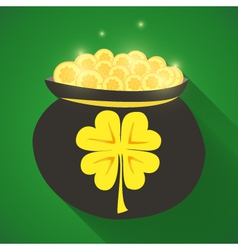 St patrick day gold money icon vector