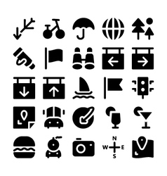 Travel Icons 4 vector image vector image