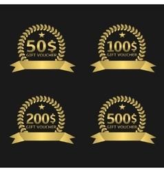 Voucher badge set vector image