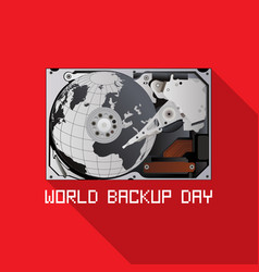 world backup day vector image vector image