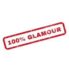 100 percent glamour text rubber stamp vector
