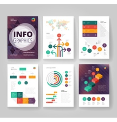 Infographics brochure color blur purple vector