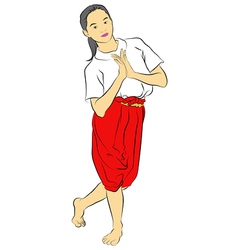 Thai national dances vector