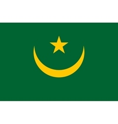 Flag of mauritania correct proportions and colors vector
